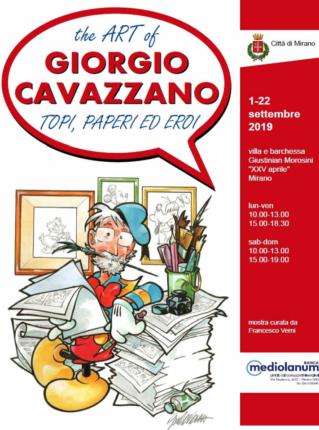 Locandina Mostra Giorgio Cavazzano