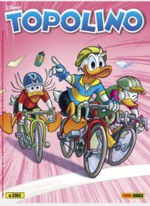 Copertina di Topolino 3363 con i paperi al Giro d'Italia