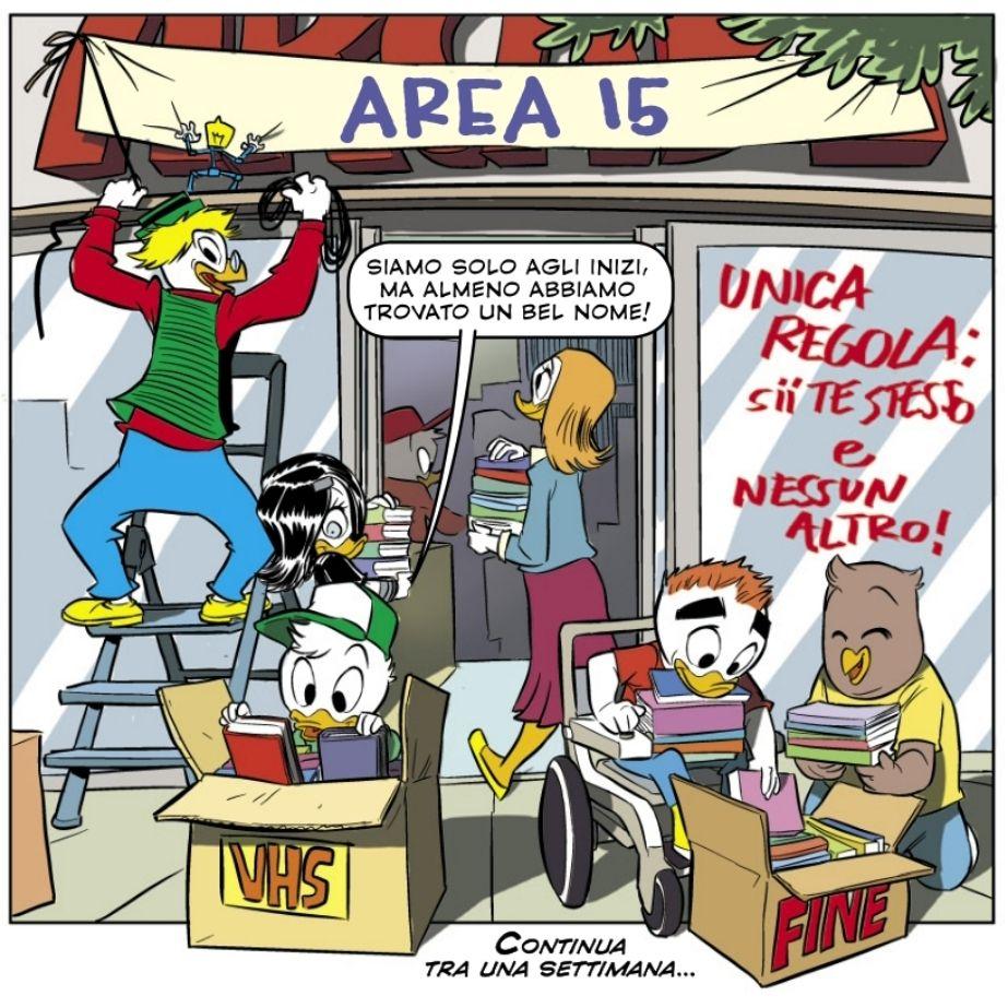 Area 15, il covo dei giovani nerd paperopolesi