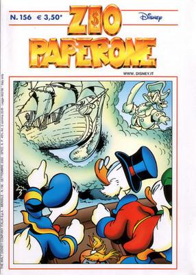 La suggestiva copertina di Zio Paperone 156, opera di Marco Rota