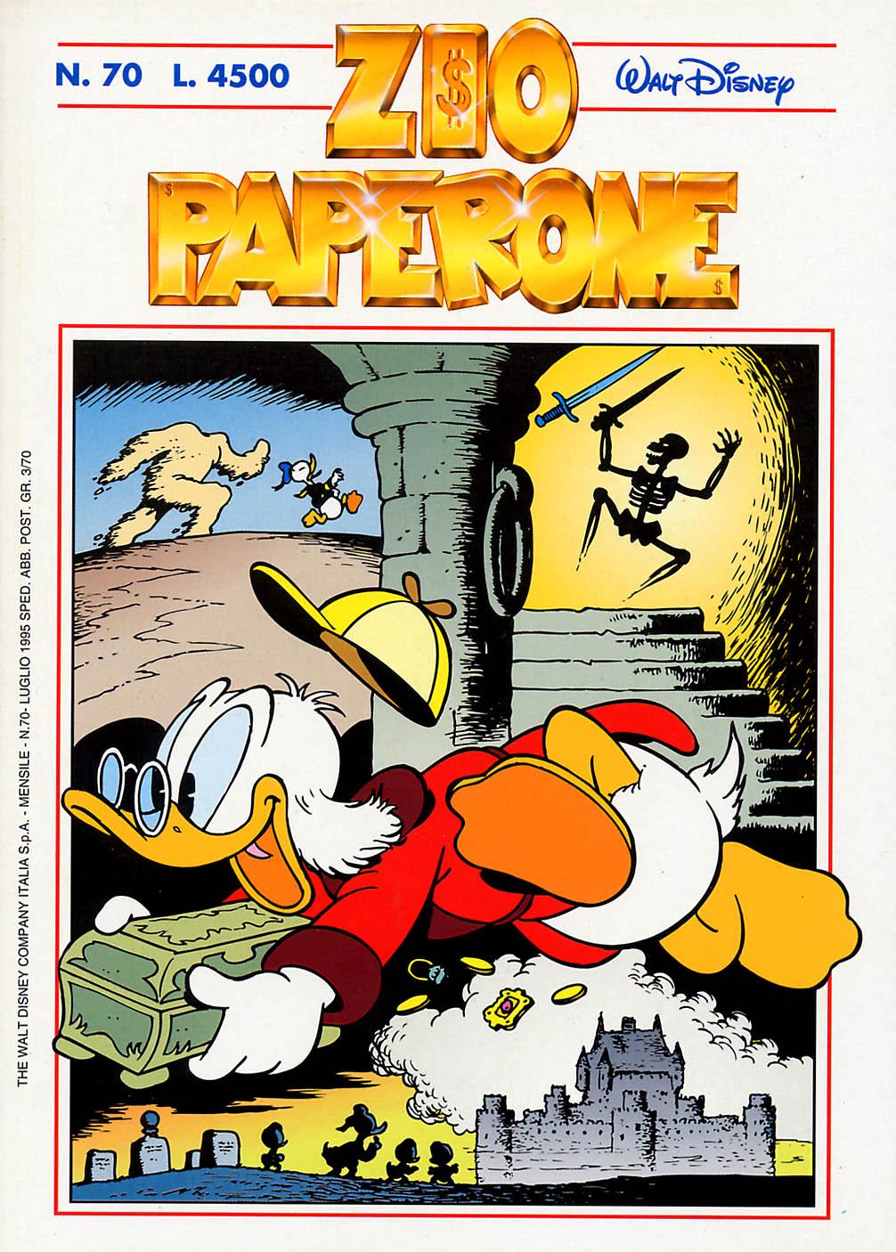 La storica copertina di Zio Paperone 70