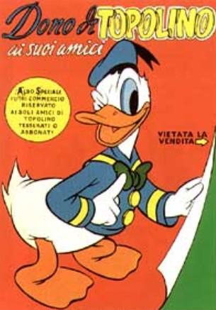 La copertina del Dono di Topolino ai suoi amici, ripresa dal primo numero di Walt Disney's Comics and Stories